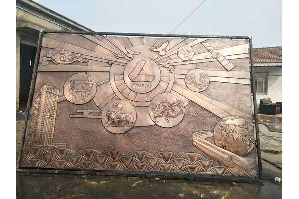 南京广发银行大厅锻铜浮雕
