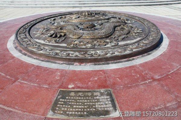 铸铜龙浮雕