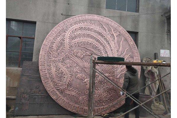 南京凤凰山铜浮雕