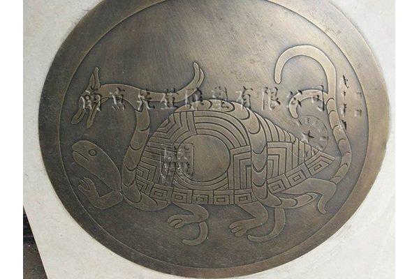 四象神兽铜浮雕,蚀刻浮雕