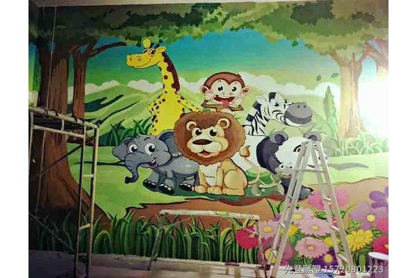 浮雕彩绘 室内外景墙浮雕彩绘